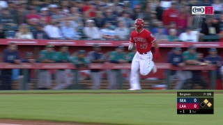 WATCH: Mike Trout scores from first on RBI double via Justin Upton