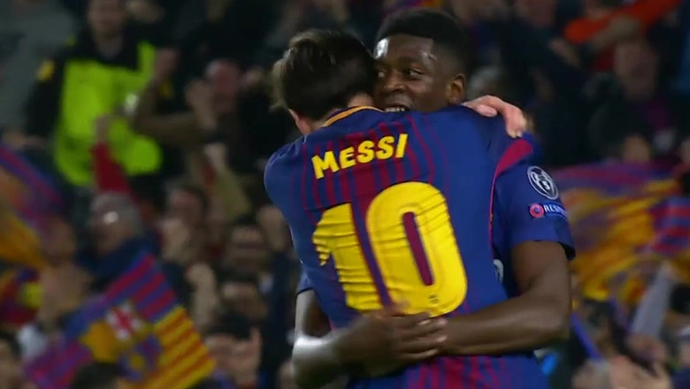 Dembele scores his first Barcelona goal vs. Chelsea | 2017-18 UEFA Champions League Highlights