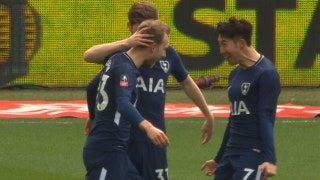 Christian Eriksen curls in a great goal for Spurs vs. Swansea   2017-18 FA Cup Highlights