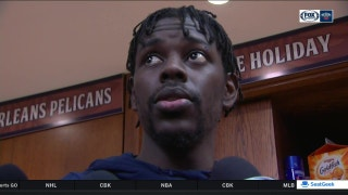 Jrue Holiday on first game back: 'I feel good out there'