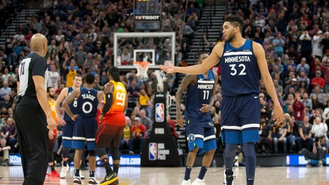 Karl-Anthony Towns, Wolves center (↓ DOWN)