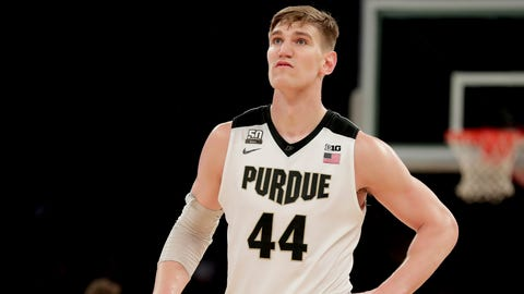 Purdue center Isaac Haas breaks elbow, out for NCAA tournament