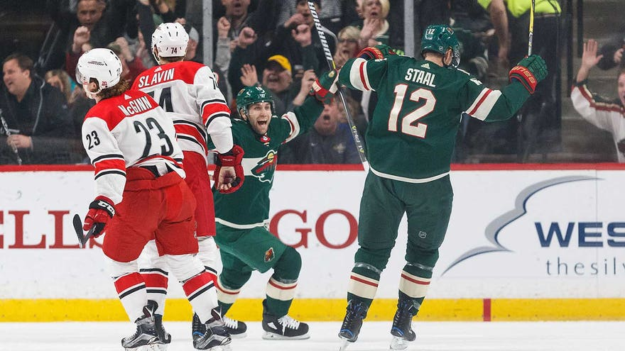Super Staal: Forward Scores Another Two Goals As Wild Win 6-2 (video)