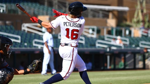 Dustin Peterson's resurgence gives Braves another outfield option