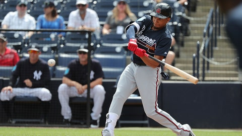 Johan Camargo's left-handed swing will help dictate his future role