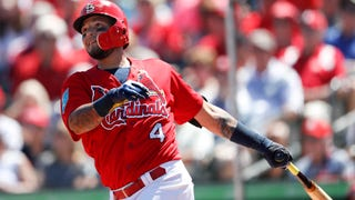 WATCH: Yadi shines with the bat (a lot) and his arm