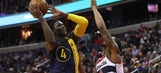 Pacers never trail in 98-95 victory over Wizards