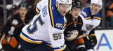 Blues head into Anaheim with a head of steam