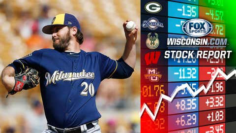 Wade Miley, Brewers pitcher (↑ UP)
