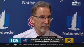 John Tortorella feels fortunate to leave Boston with two points