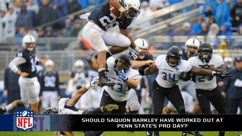 Should Saquon Barkley have worked out at Penn State's pro day?