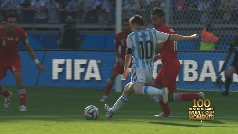 The 100th most memorable World Cup Moment ever, 100 days before the 2018 World Cup on FOX: Messi rescues Argentina