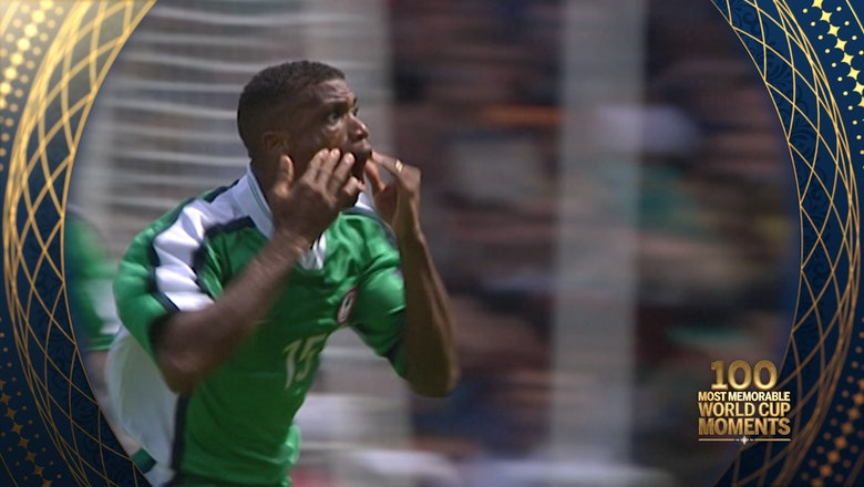 94th Most Memorable World Cup Moment: Sunday Oliseh's Goal