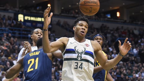 Giannis Antetokounmpo, Bucks forward (↓ DOWN)