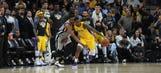 Ball, Randle rally Lakers past Spurs late, 116-112