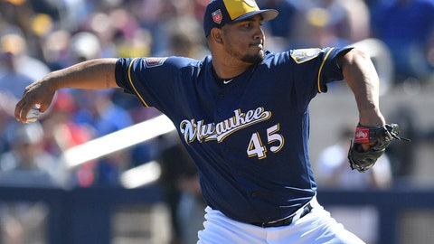 Jhoulys Chacin, Brewers starting pitcher (↓ DOWN)