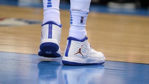 Oklahoma City Thunder forward Carmelo Anthony