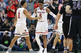 Images of Texas Tech, Florida match up in second round