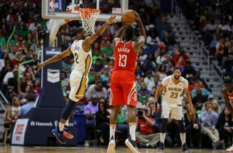 Images of Harden, Rockets beat Pelicans for 21st win in 22 games