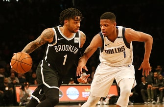 Images of Nets blow double-digit lead, still beat Mavs 114-106
