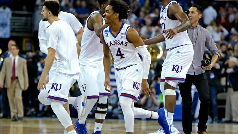 PHOTOS: Kansas celebrates OT win over Duke, return to the Final Four