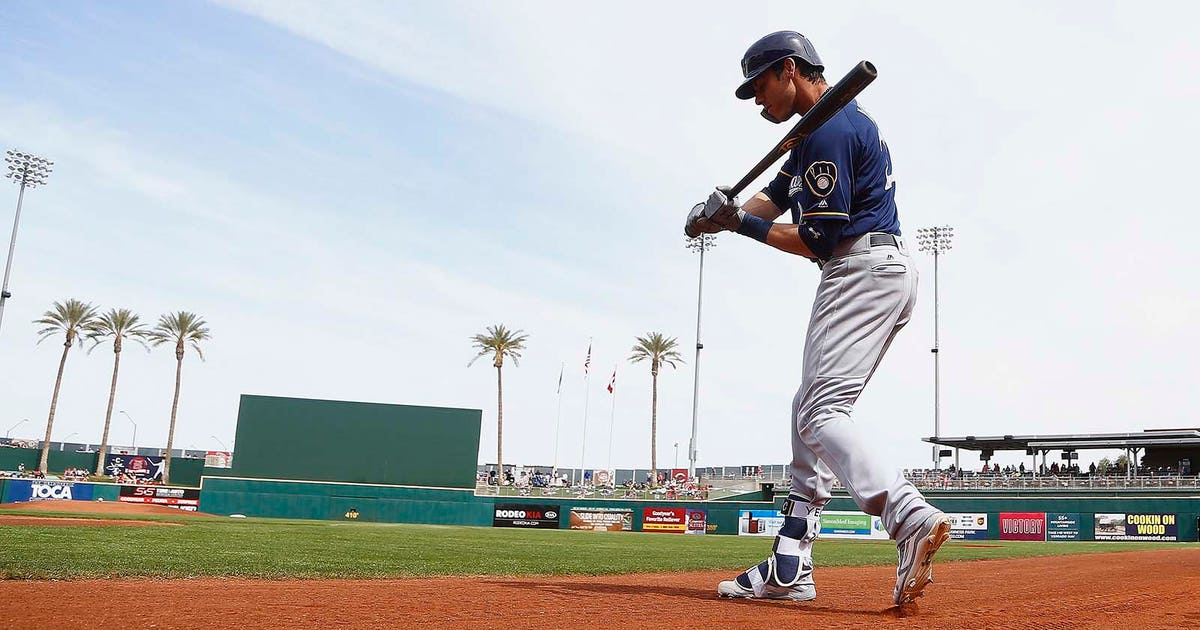 Milwaukee Brewers  Christian Yelich back to work after short offseason fea25c798