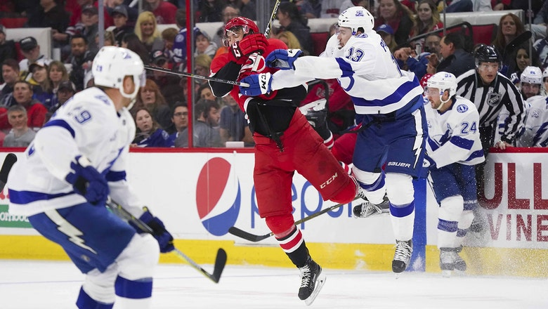 Lightning drop regular season finale in OT to Hurricanes, await Sunday's results to learn playoff opponent