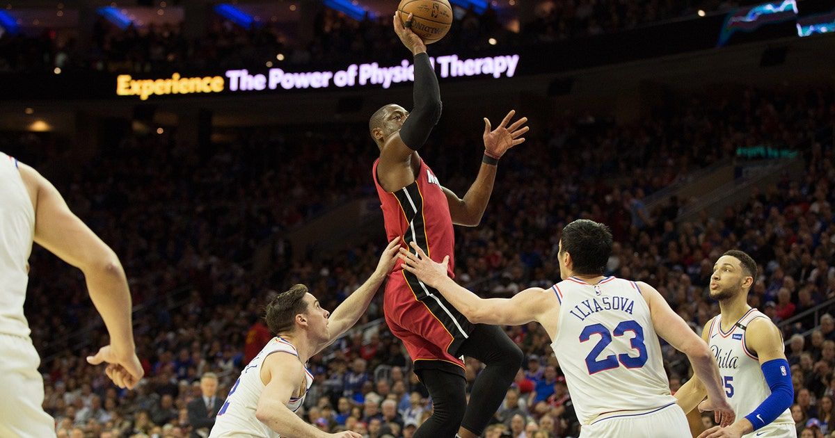 Dwyane Wade dominates off the bench, Heat take Game 2 to even up series with 76ers