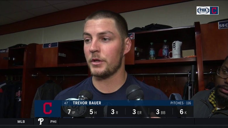Trevor Bauer couldn't put hitters away, says slider is work in progress