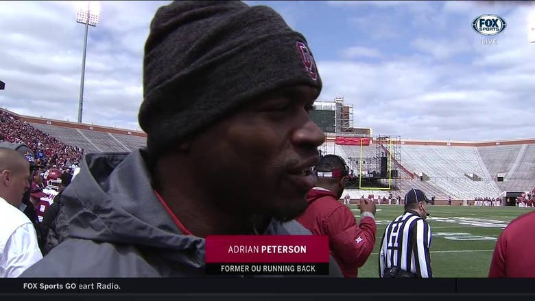 Adrian Peterson back in Norman for Sooners Spring Game