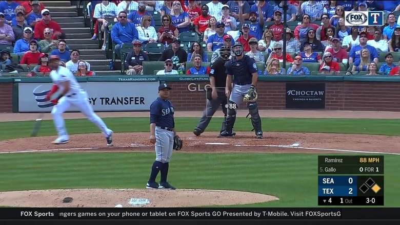 WATCH: Joey Gallo smokes his 7th HR to left-center field | Mariners at Rangers