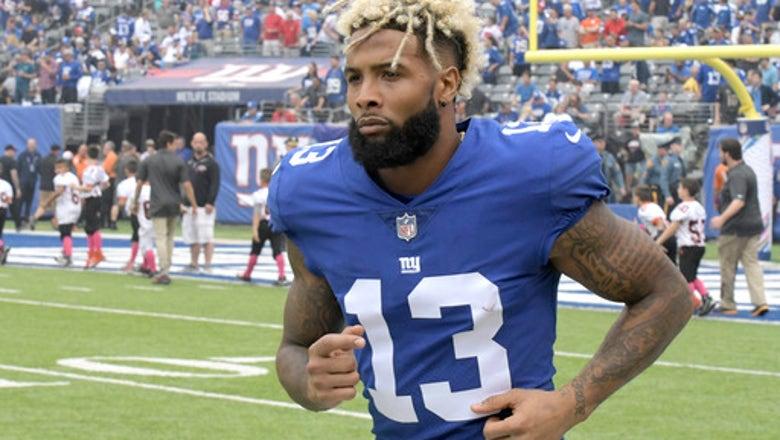 Amid swirling rumors, Beckham Jr. at Giants OTAs