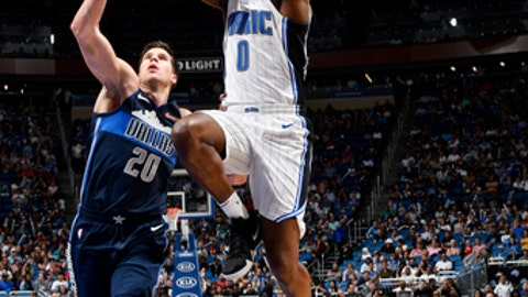 ORLANDO, FL - APRIL 4:  Jamel Artis #0 of the Orlando Magic shoots the ball during the game against the Dallas Mavericks on April 4, 2018 at Amway Center in Orlando, Florida. (Photo by Fernando Medina/NBAE via Getty Images)