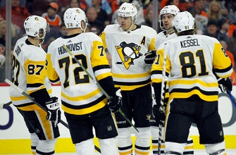 Sidney Crosby scores, Penguins beat Flyers 5-1
