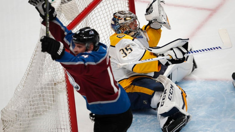 MacKinnon scores twice, Avs beat Predators 5-3 in Game 3