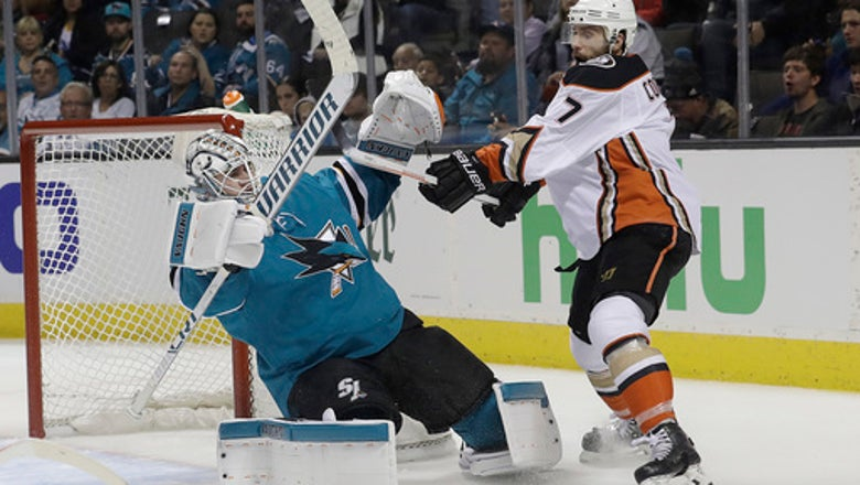 Sharks use 2nd period barrage to beat Ducks 8-1 for 3-0 lead