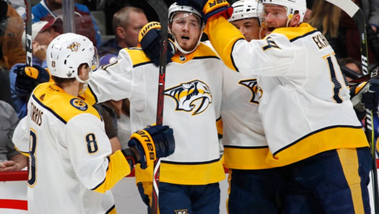 Forsberg, Rinne help Predators beat Avalanche 3-2 in Game 4