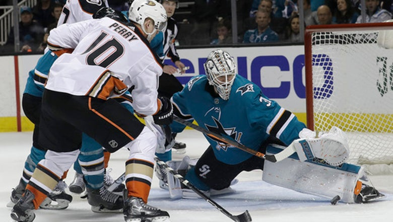 Sharks ride depth, Jones to first-round sweep of Ducks