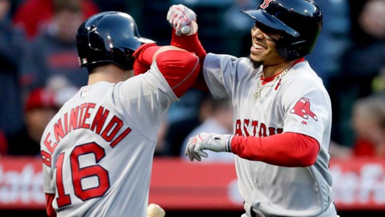 Betts, Benintendi lead sizzling Red Sox past Angels, 8-2