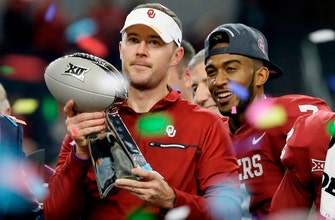 Riley's 1st spring as Sooners coach after Big 12 title, CFP