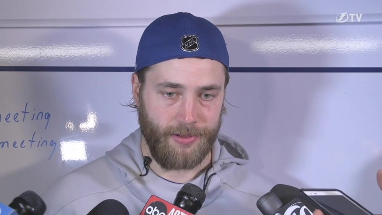 Lightning D Victor Hedman on Game 5 win, advancing 2nd round
