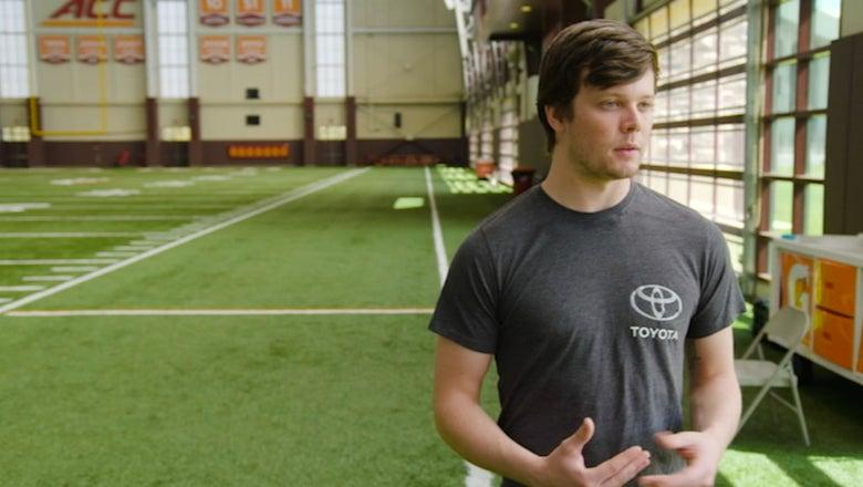 Erik Jones checks out Virginia Tech's football program with Caleb Hurd & David Wilson