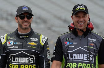 Jimmie Johnson & Chad Knaus are all business at the track, unless they're talking about 'Dodgeball'
