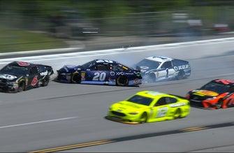 Jamie McMurray turns Erik Jones setting off multi-car wreck | 2018 TALLADEGA | FOX NASCAR
