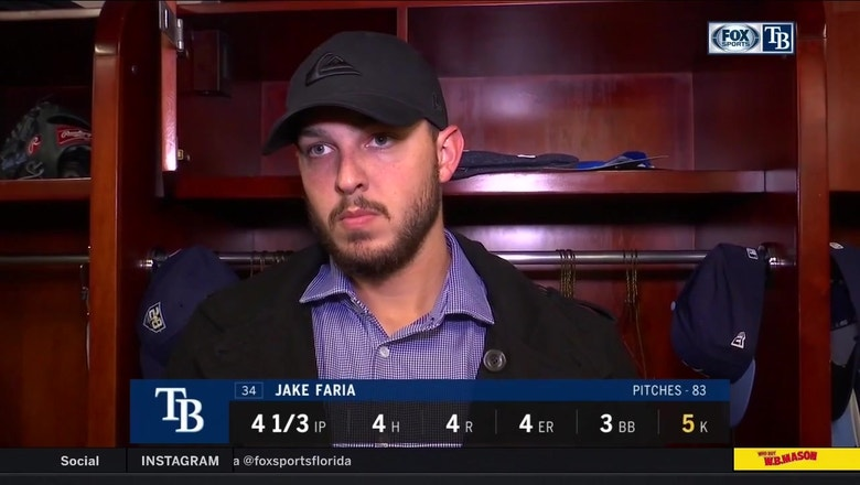 Jake Faria on his start against the Orioles