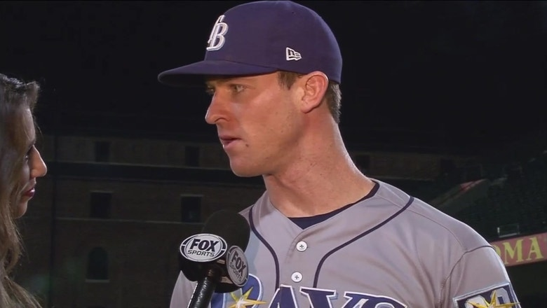 Joey Wendle discusses his big night at the plate