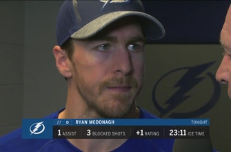 Ryan McDonagh liked how Lightning responded in 3rd period
