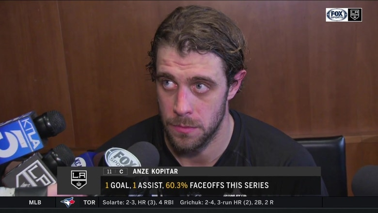 Anze Kopitar says LA Kings offense lost them series