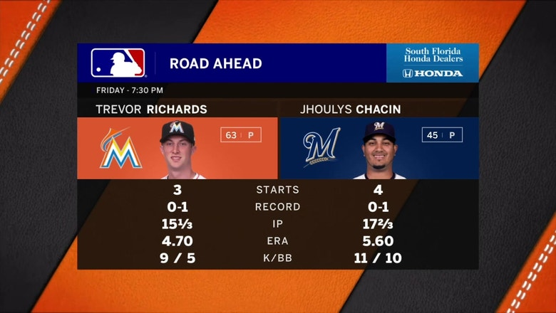 Marlins look to bounce back against Brewers