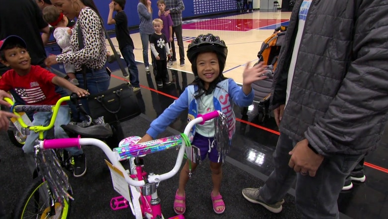 #XTRAPOINT: CarMax + LA Clippers Surprise Military Families w/ New Bikes